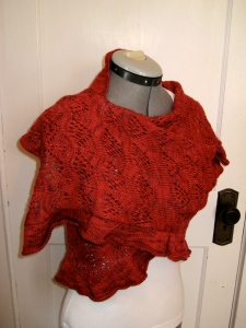Red Shawl wrapped side