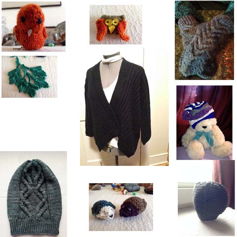 A few more Christmas gifts, some stuffies for a wreath, and a cardigan for me.