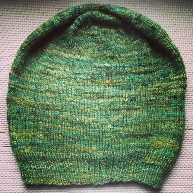 Made from handspun yarn.